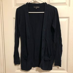 Forever 21 navy v-neck button down cardigan